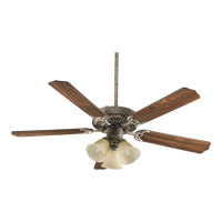 Quorum International Capri VI 3 Light Ceiling Fan in Mystic Silver 77520-1758