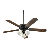 Quorum International Capri VI 3 Light Ceiling Fan in Oiled Bronze 77520-1886