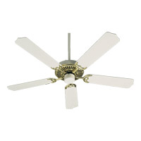 Capri I 52 inch Polished Brass and White Ceiling Fan, Blades Sold Separately, Light Kit Not Included