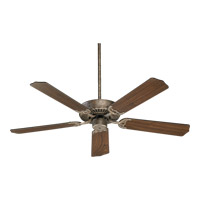 Quorum International Capri I Ceiling Fan (Blades Not Included) in Mystic Silver 77520-58