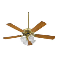 Quorum International Capri V 4 Light Ceiling Fan in Polished Brass 77520-8102