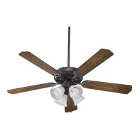Quorum International Capri V 4 Light Ceiling Fan in Toasted Sienna 77520-8144