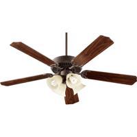 Quorum International Capri V 4 Light Ceiling Fan (Blades Not Included) in Oiled Bronze 77520-8286