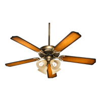 Quorum International Capri V 4 Light Ceiling Fan (Blades Not Included) in Antique Flemish 77520-8322