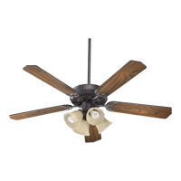 Quorum International Capri V 4 Light Ceiling Fan (Blades Not Included) in Toasted Sienna 77520-8344