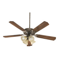 Quorum International Capri V 4 Light Ceiling Fan (Blades Not Included) in Mystic Silver 77520-8358