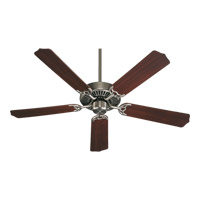 Capri I 52 inch Antique Silver Ceiling Fan in Light Kit Not Included