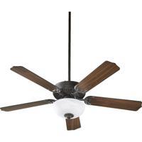 Quorum International Capri III 2 Light Ceiling Fan (Blades Not Included) in Old World 77520-9295
