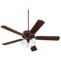 Quorum 77525-1044 Capri VI 52 inch Toasted Sienna with Reversible Toasted Sienna and Walnut Blades Indoor Ceiling Fan