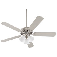 Quorum 77525-1065 Capri VI 52 inch Satin Nickel with Reversible Satin Nickel and Walnut Blades Indoor Ceiling Fan
