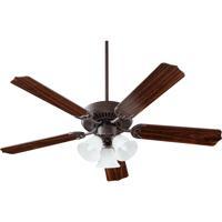 Quorum 77525-1644 Capri Vi 52 inch Toasted Sienna Ceiling Fan in Faux Alabaster 3 GU24