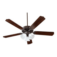 Quorum 77525-1686 Capri Vi 52 inch Oiled Bronze with Oiled Bronze and Walnut Blades Ceiling Fan in Faux Alabaster, 3, Candelabra