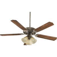 Quorum 77525-1758 Capri VI 52 inch Mystic Silver Ceiling Fan in Light Kit Not Included