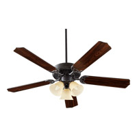 Quorum International Capri VI 3 Light Ceiling Fan in Old World 77525-1795