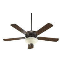 Quorum International Capri IV 2 Light Ceiling Fan in Oiled Bronze with Oiled Bronze Blades 77525-2686