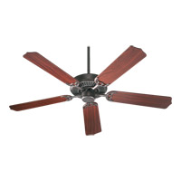 Quorum 77525-44 Capri I 52 inch Toasted Sienna with Rosewood Blades Ceiling Fan in Satin Nickel, Faux Alabaster, GU24