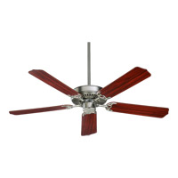 Capri I 52 inch Satin Nickel with Reversible Dark Oak and Rosewood Blades Ceiling Fan in Maple, Light Kit Not Included