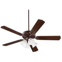 Quorum 77525-8044 Capri V 52 inch Satin Nickel with Reversible Toasted Sienna and Walnut Blades Indoor Ceiling Fan