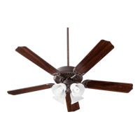 Quorum 77525-8086 Capri V 52 inch Oiled Bronze with Oiled Bronze and Walnut Blades Indoor Ceiling Fan