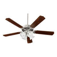 Capri V 52 inch Satin Nickel Ceiling Fan in Light Kit Included