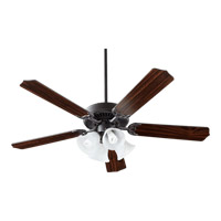 Quorum International Capri V 4 Light Ceiling Fan in Old World with Old World Blades 77525-8195