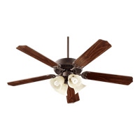 Capri V 52 inch Oiled Bronze with Teak/Walnut Blades Ceiling Fan in Oiled Bronze, Candelabra