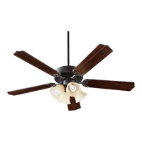 Quorum 77525-8395 Capri V 52 inch Old World Ceiling Fan in Rosewood, Antique Silver, Light Kit Not Included