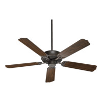 Quorum 77525-86 Capri I 52 inch Oiled Bronze Ceiling Fan in Linen, 3, Candelabra