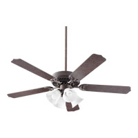 Capri VII 52 inch Toasted Sienna Ceiling Fan in Faux Alabaster, 4, Medium