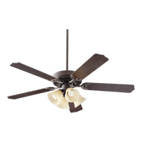 Quorum International Capri VII 4 Light Ceiling Fan in Toasted Sienna 77525-8844