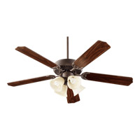 Quorum International Capri VII 4 Light Ceiling Fan in Oiled Bronze 77525-8986