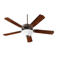 Quorum 77525-9086 Capri III Oiled Bronze with Oiled Bronze and Walnut Blades Indoor Ceiling Fan