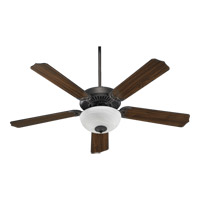 Quorum 77525-9244 Capri Iii Toasted Sienna with Toasted Sienna and Walnut Blades Ceiling Fan in Faux Alabaster, 2, GU24