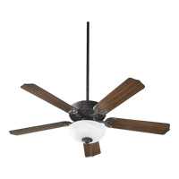 Capri III Old World Ceiling Fan in Faux Alabaster, 2, GU24