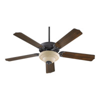 Quorum 77525-9444 Capri III Toasted Sienna Ceiling Fan in Amber Scavo, 2, GU24