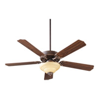 Quorum 77525-9486 Capri III Oiled Bronze with Reversible Oiled Bronze and Walnut Blades Ceiling Fan in Faux Alabaster, 3, Candelabra