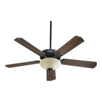 Quorum 77525-9495 Capri Iii Old World with Old World and Walnut Blades Ceiling Fan in Amber Scavo 2 Candelabra