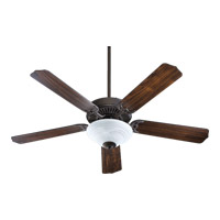 Quorum 77525-9544 Capri III 52 inch Toasted Sienna Ceiling Fan in Faux Alabaster, Candelabra