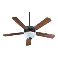 Quorum 77525-9595 Capri III 52 inch Old World Ceiling Fan in Faux Alabaster, Candelabra