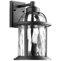 Quorum 7760-3-69 Winston 3 Light 15 inch Noir Outdoor Wall Lantern