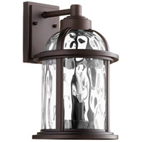 Winston 3 Light 15 inch Oiled Bronze Outdoor Wall Lantern