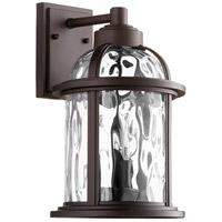 Quorum 7760-3-86 Winston 3 Light 15 inch Oiled Bronze Outdoor Wall Lantern