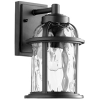 Quorum 7760-69 Winston 1 Light 12 inch Noir Outdoor Wall Lantern