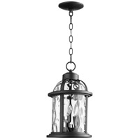 Quorum 7761-3-69 Winston 3 Light 9 inch Noir Outdoor Pendant
