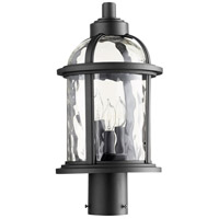 Winston 3 Light 17 inch Noir Outdoor Post Lantern