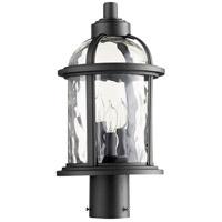 Quorum 7762-3-69 Winston 3 Light 17 inch Noir Outdoor Post Lantern