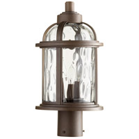 Winston 3 Light 17 inch Oiled Bronze Outdoor Post Lantern