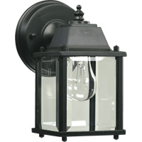 Quorum 780-15 Signature 1 Light 9 inch Black Outdoor Wall Lantern