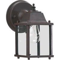 Quorum 780-5 Signature 1 Light 9 inch Rust Outdoor Wall Lantern