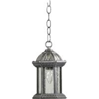 Quorum International Stelton 1 Light Outdoor Hanging Lantern in Rustic Silver 7814-72